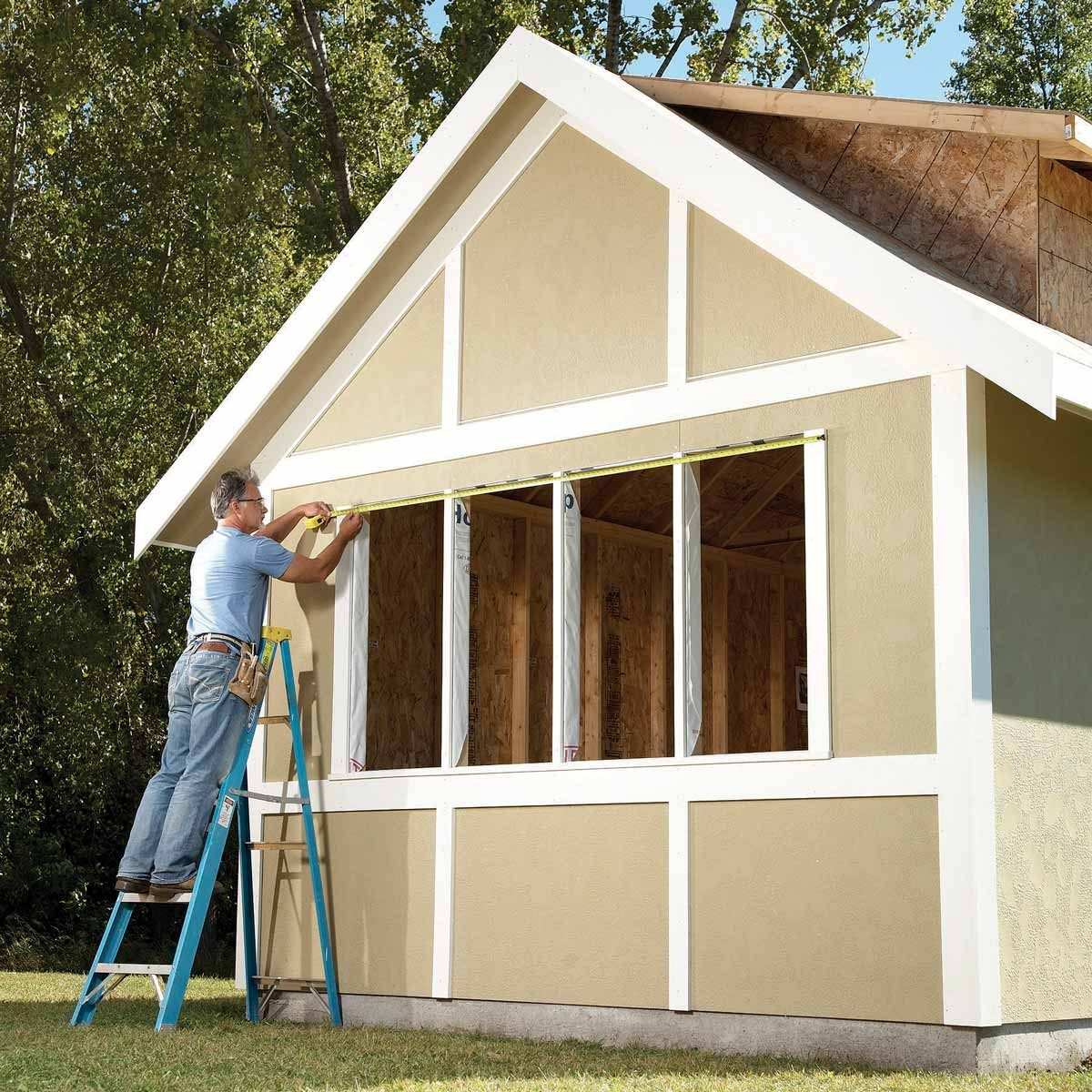 Dress Up a Plain Shed With Trim