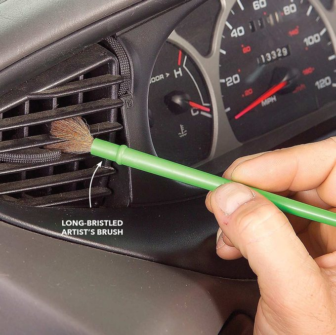 Best Way to Clean a Car: Brush Out the Air Vents