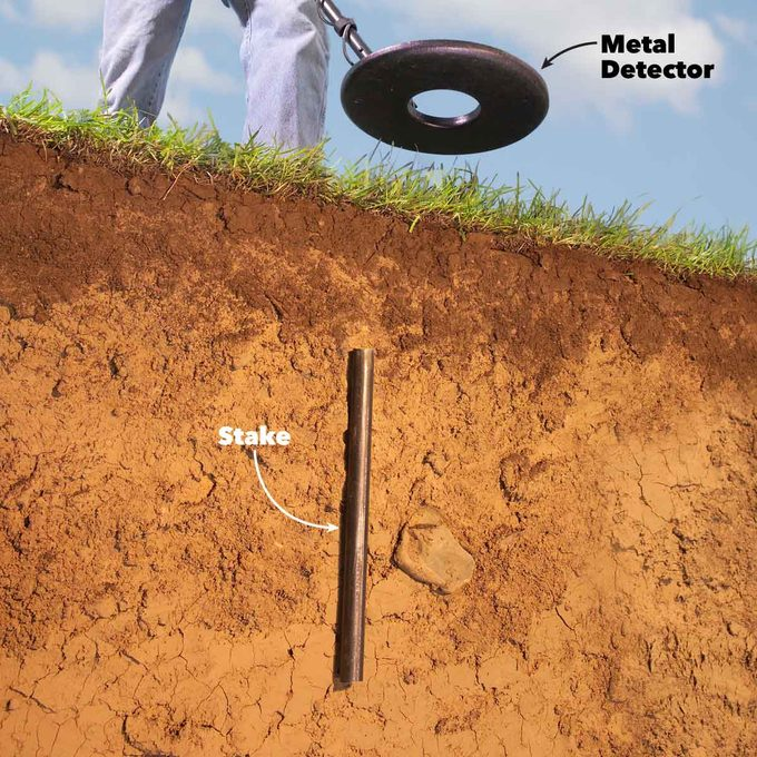 how to find you property lines metal detector stake