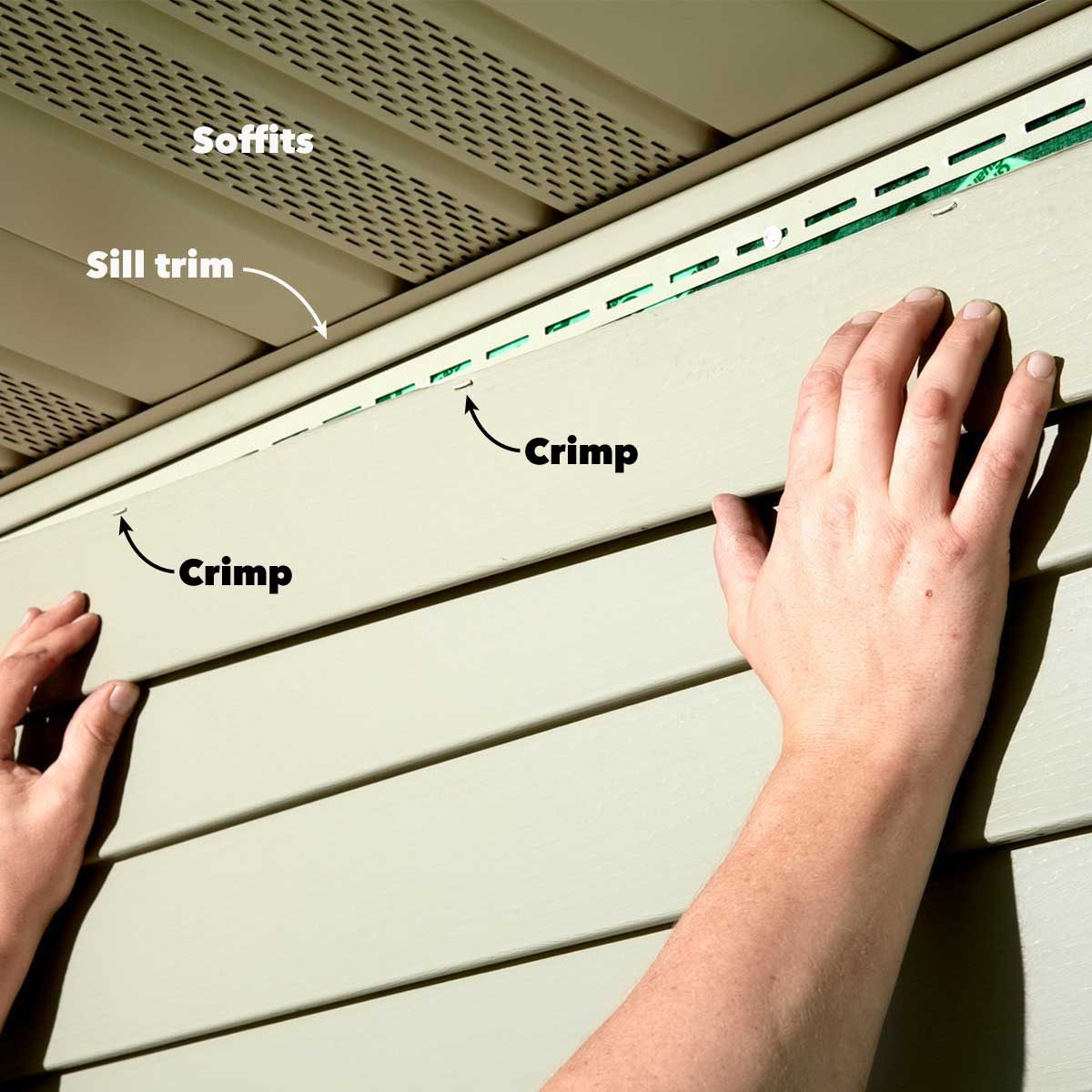 Crimp and Caulk the Top Course