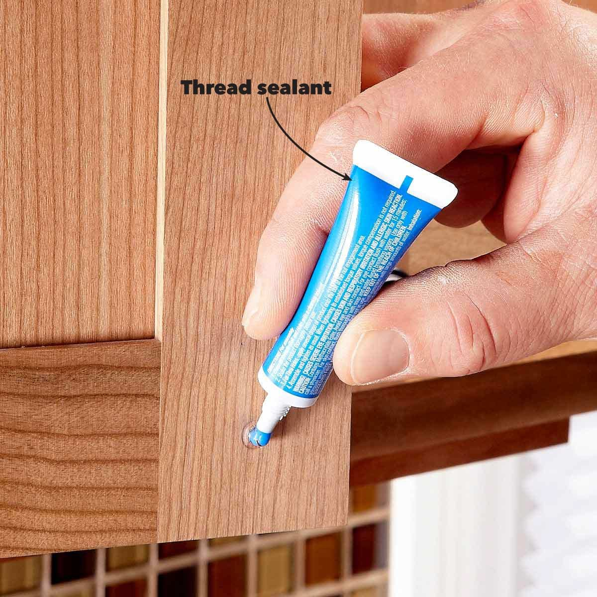 Use Thread Sealant to Keep the Screws Tight