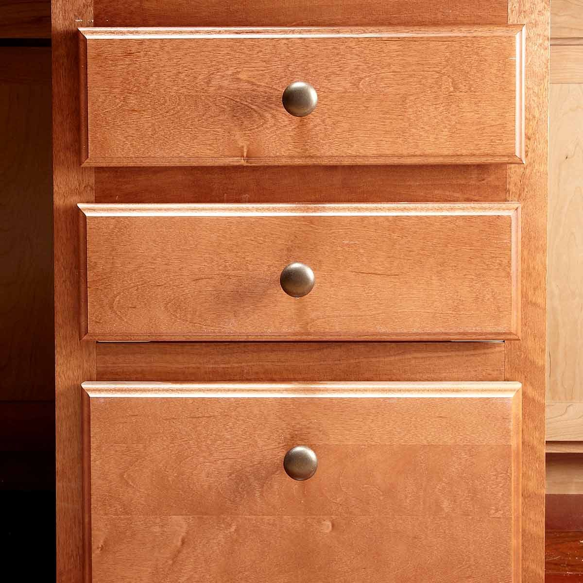 Install Hardware Higher on the Lowest Drawer