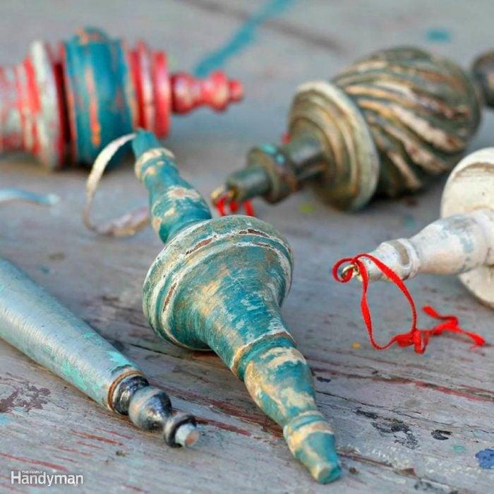 Simple Christmas Tree Decorations: Broken Furniture Piece Ornaments