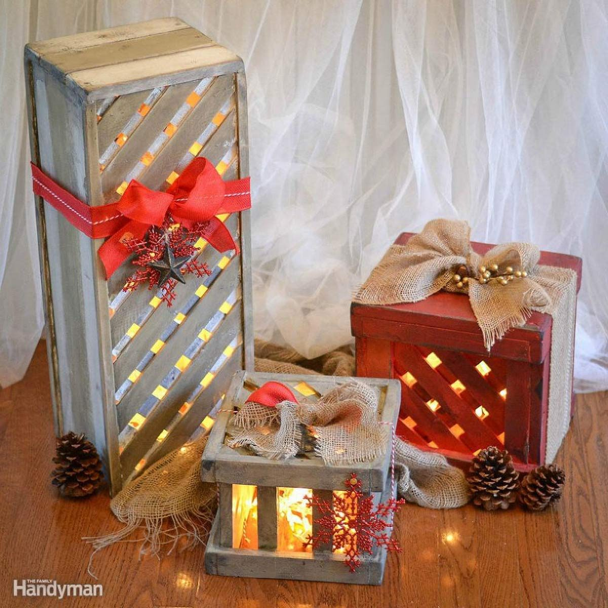 light up porch presents