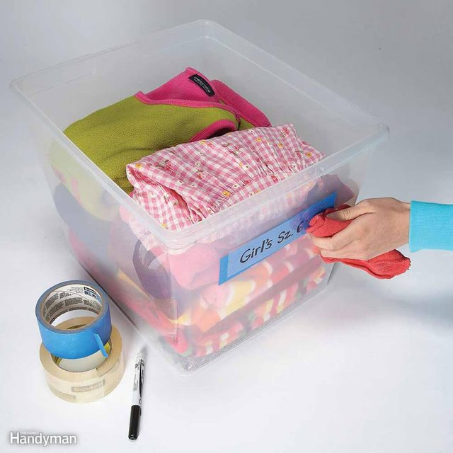 Erasable tape storage hack