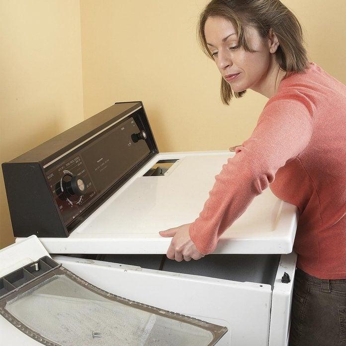 clean dryer lint