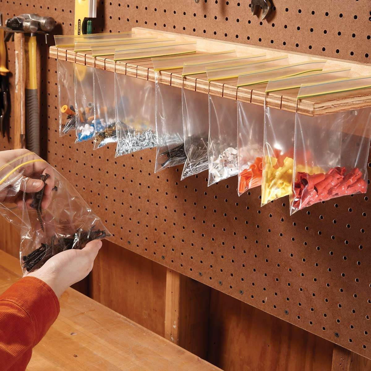 Assemble a Sandwich Bag Parts Organizer