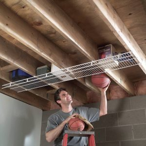 joist storage shelving
