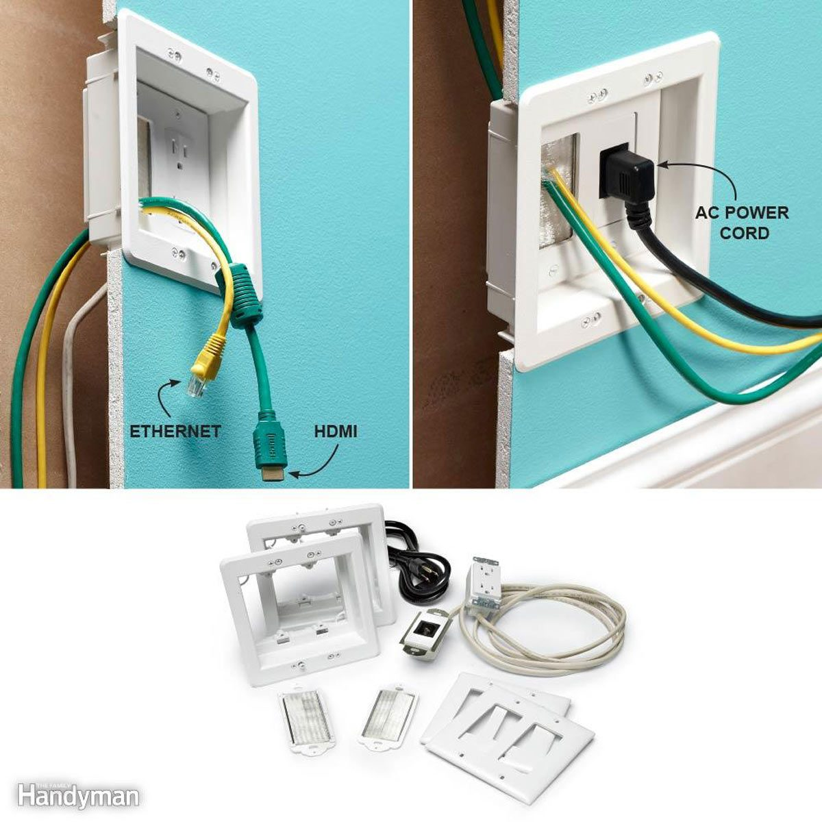Hide TV Wires: Power Jumper kit