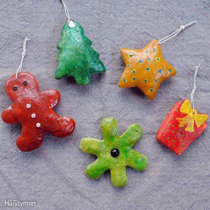 Simple Christmas Tree Decorations: Salt Dough Cookie Ornaments