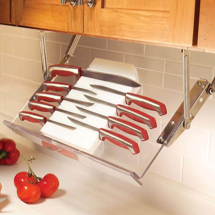 Under-Cabinet Knife Storage Racks
