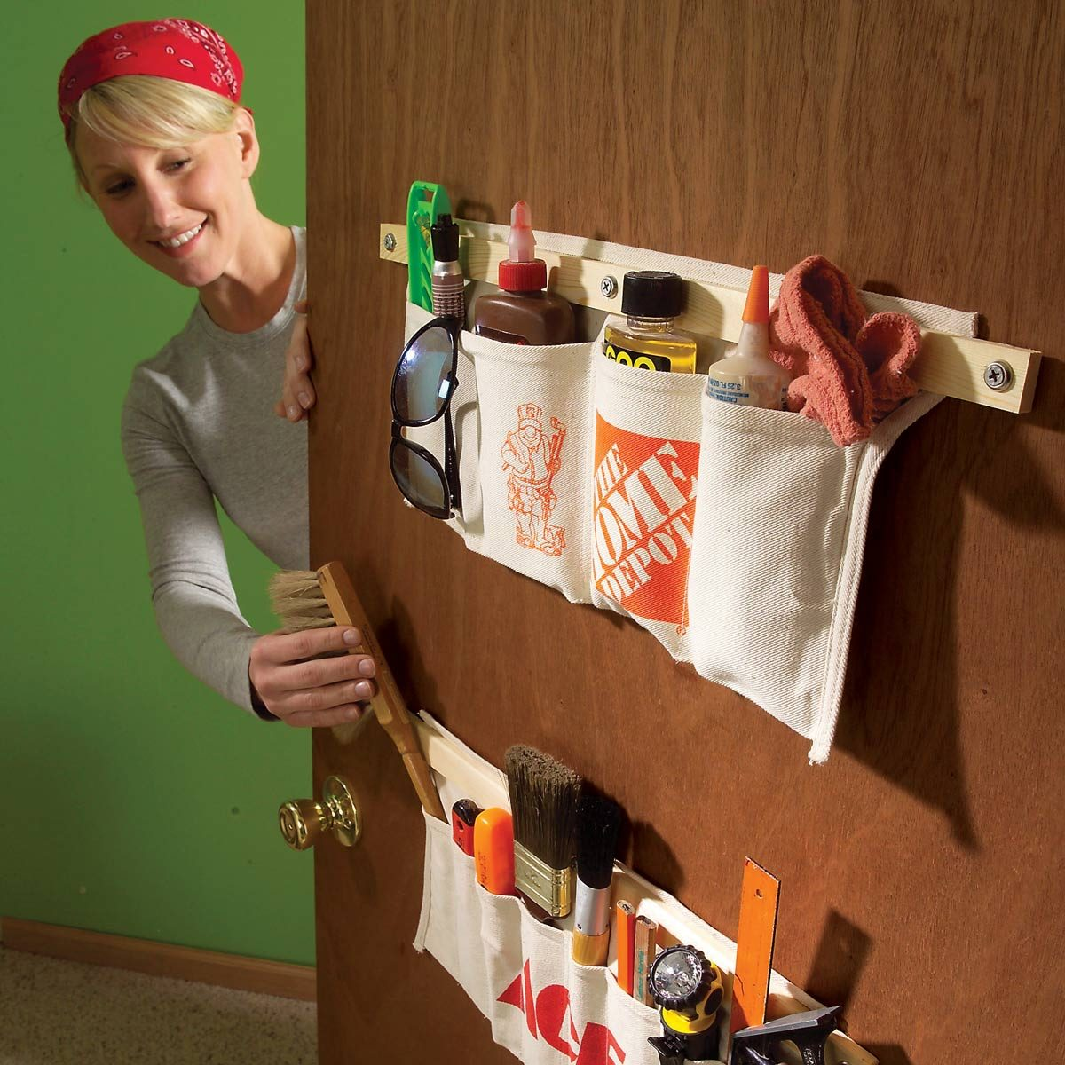 Behind the Door Storage: Tool-Apron Storage