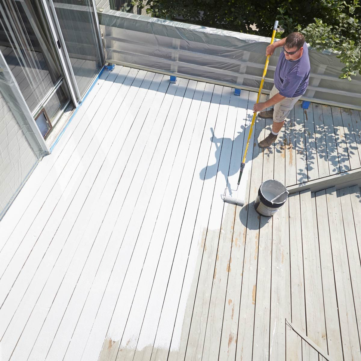 restore an old deck paint a deck white