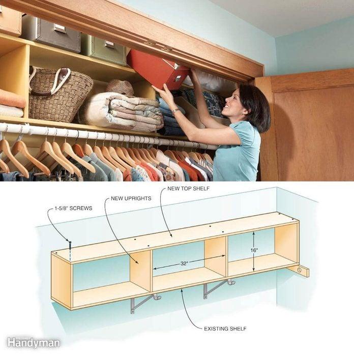Double decker closet storage