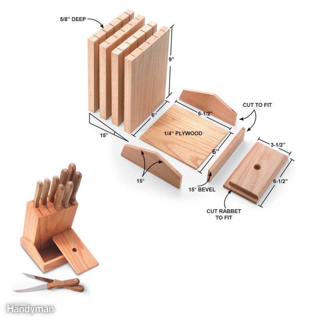 Easy to make knife block