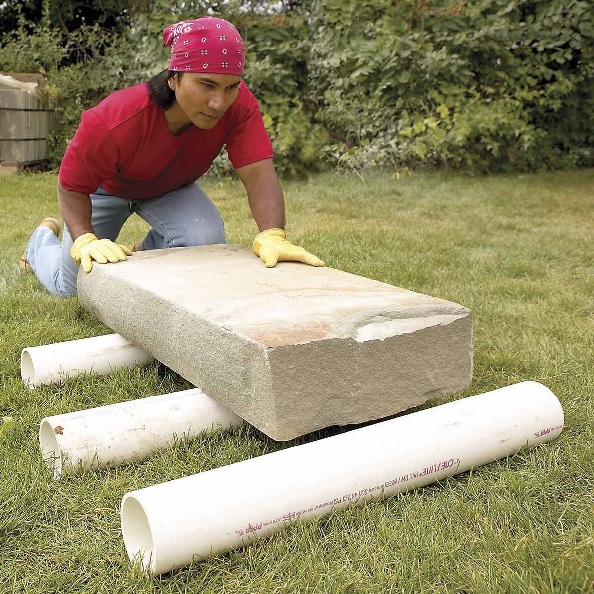Roll Heavy Stones Over PVC Pipe