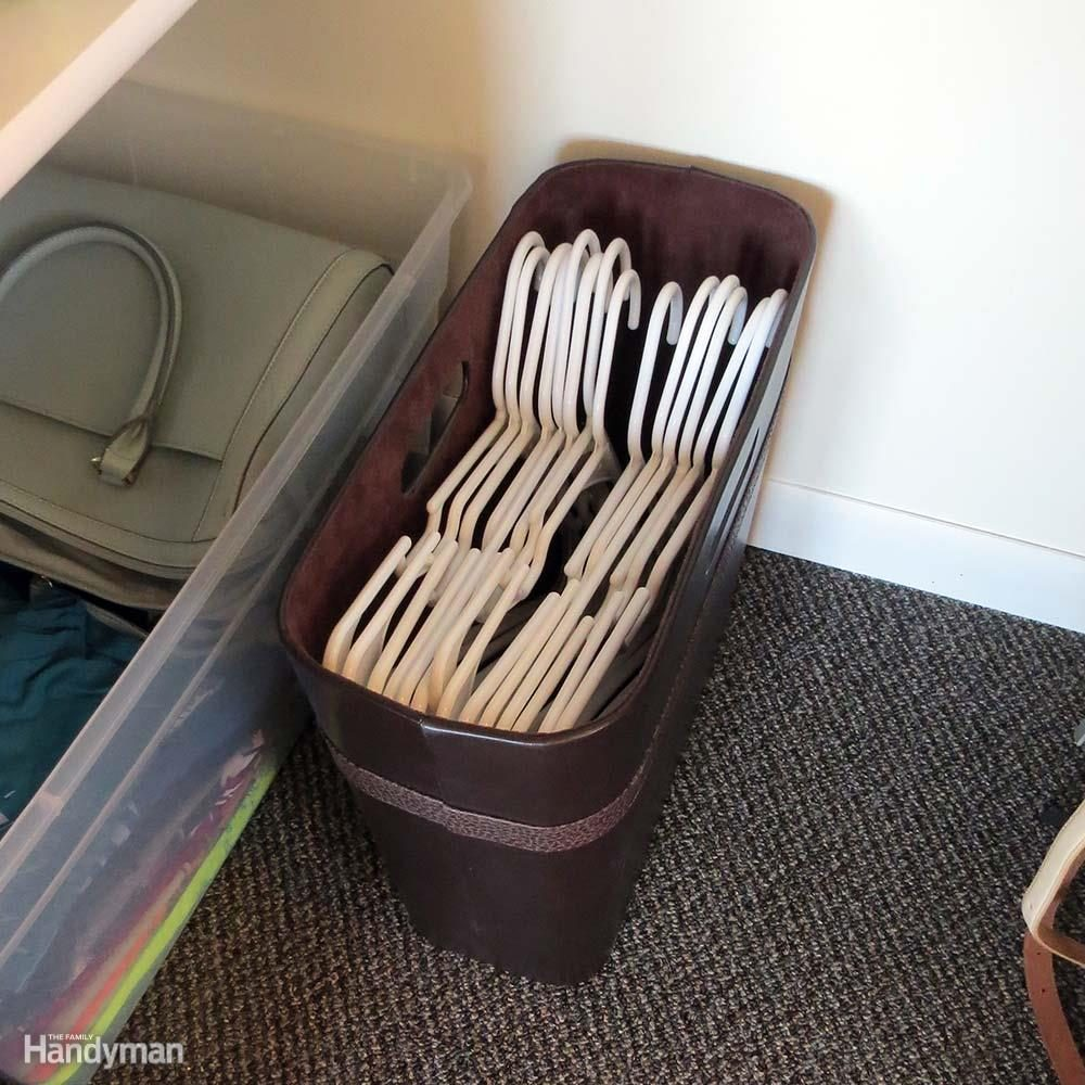 Closet Storage Ideas: Store Unused Hangers in a Magazine File