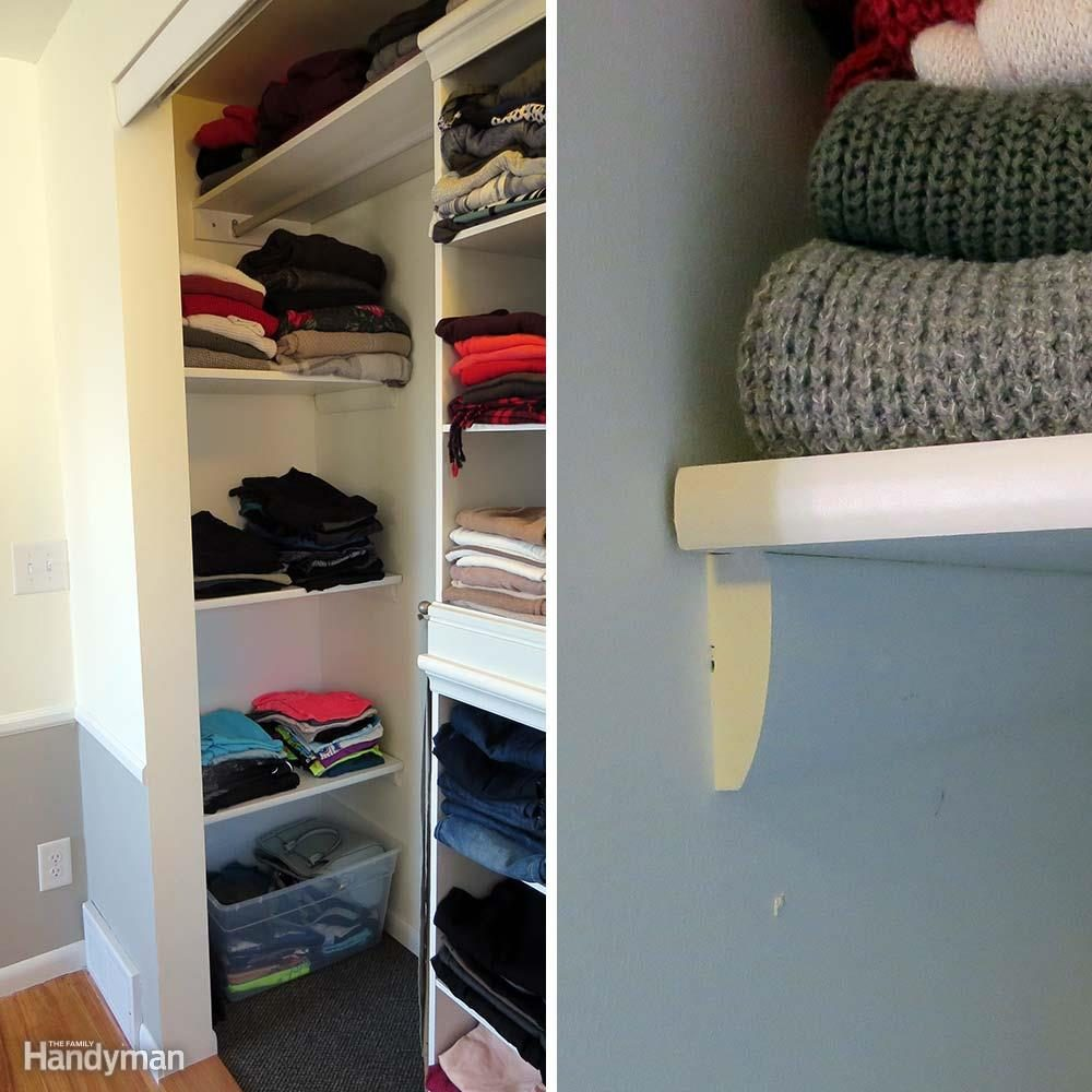 11 clothes storage ideas to transform your closet family handyman. Black Bedroom Furniture Sets. Home Design Ideas