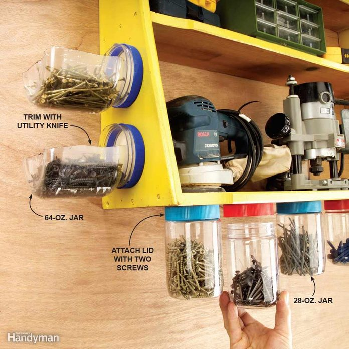 Recycle Peanut Butter Jars