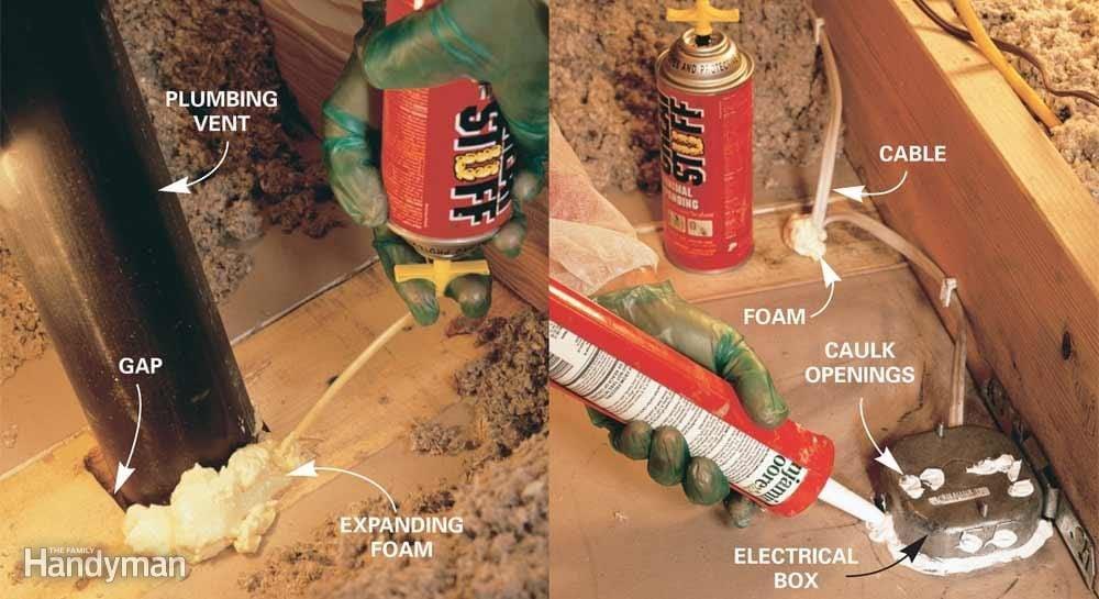 Use Foam or Caulk for Small Gaps