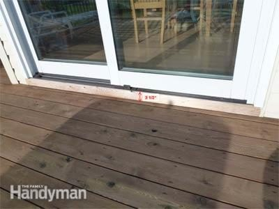 How To Build A Deck Prevent Rot At The Patio Door