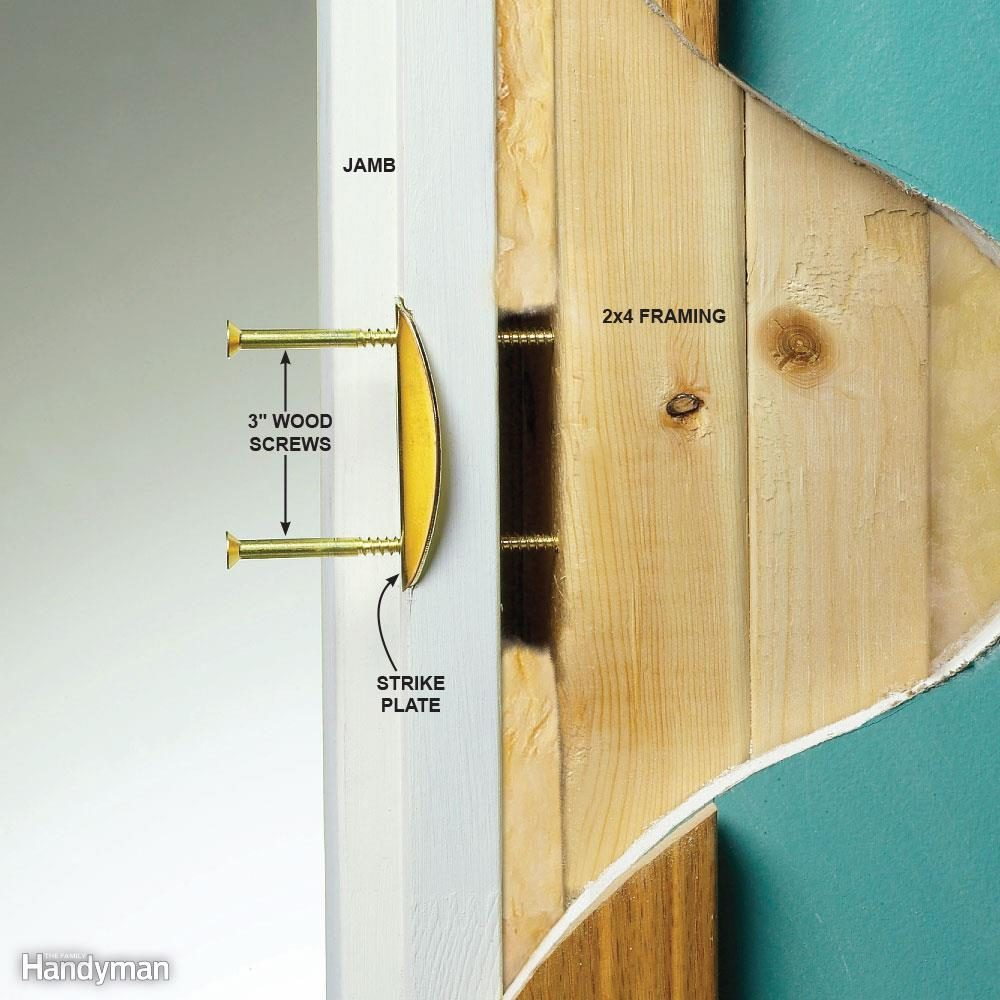 Reinforce Your Entry Door Strike Plate