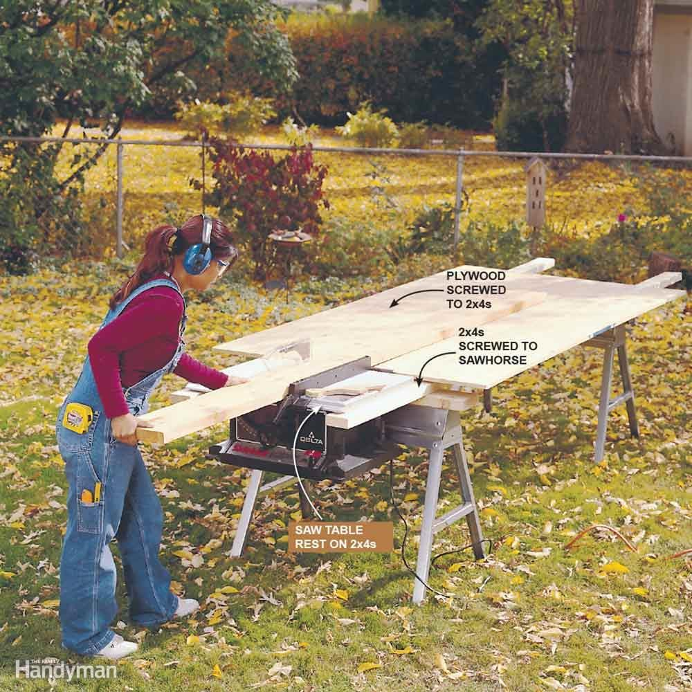 Extend Your Saw Table