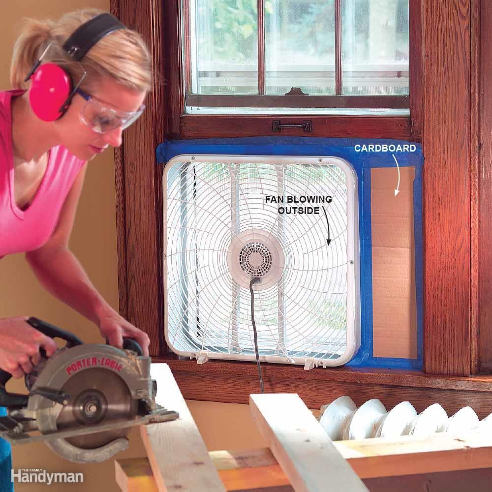 Dust Removal Fans : How to remove a wall and other demolition tips the