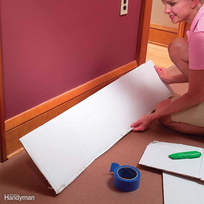 Cover Baseboard With Cardboard