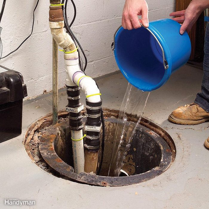 Test your sump pump before the beginning of the rainy season