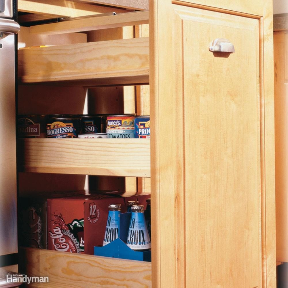 Build A Roll Out Pantry Cabinet