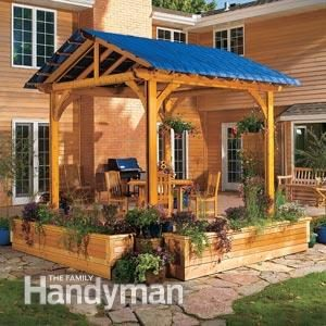 Pergola: Add a Fabric Cover for Extra Protection