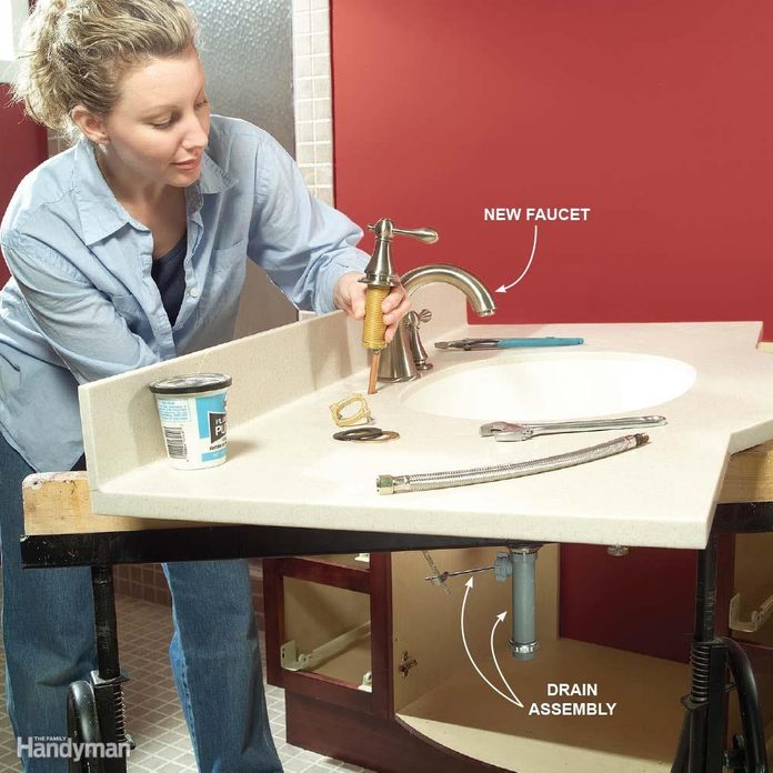 Premount the Faucet on New Sink Installations