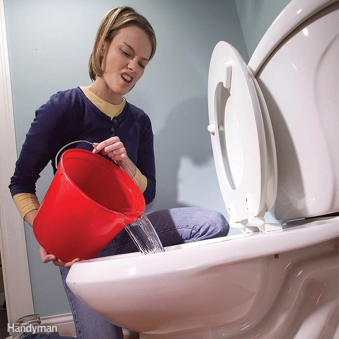 How to Flush the Toilet When the Power's Out: Flush With a Bucket