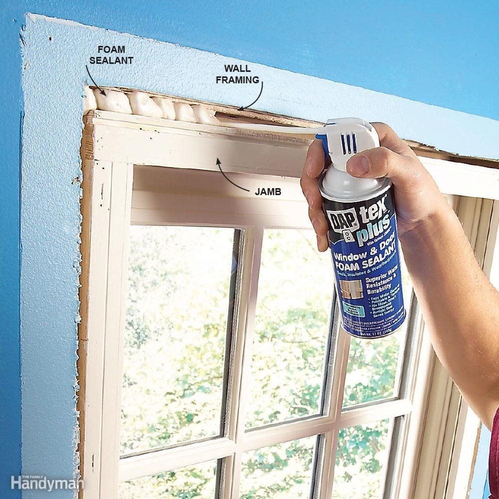 Use Foam Sealant on Gaps