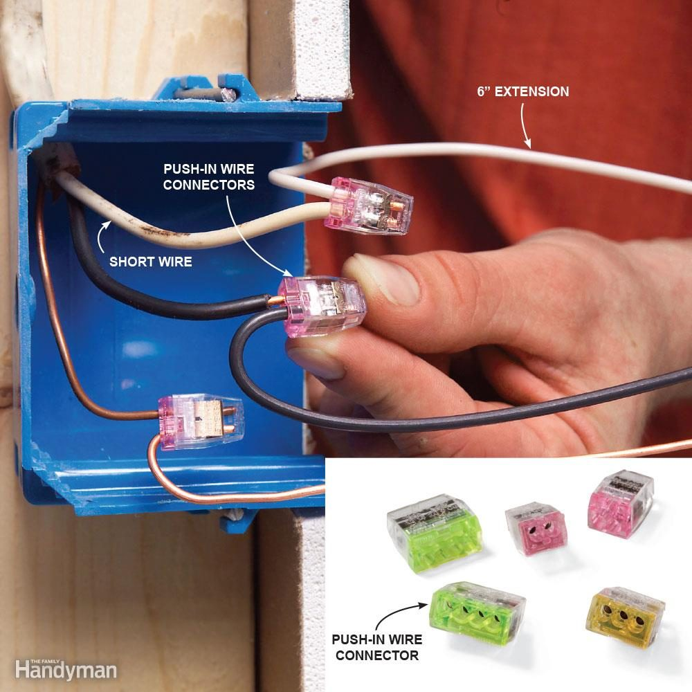 Top 10 Electrical Mistakes The Family Handyman 110 Block Enclosure Wiring Diagram Mistake 2 Cutting Wires Too Short