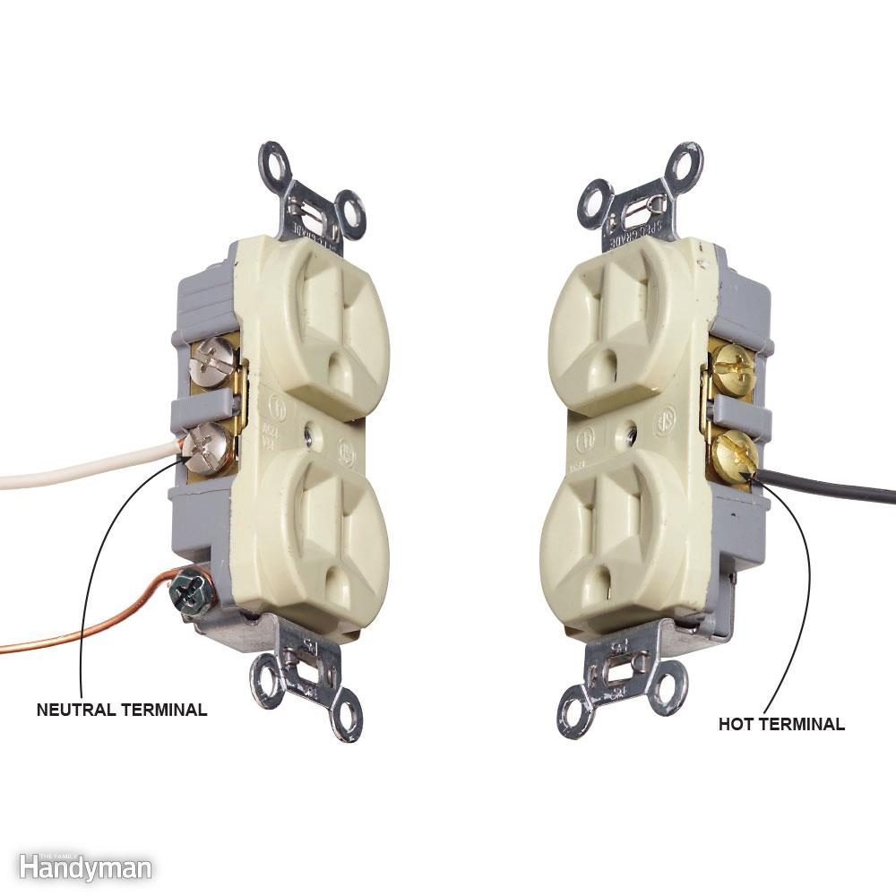 Top 10 Electrical Mistakes The Family Handyman Wiring An Outlet With A Red Wire Mistake 9 Reversing Hot And Neutral Wires