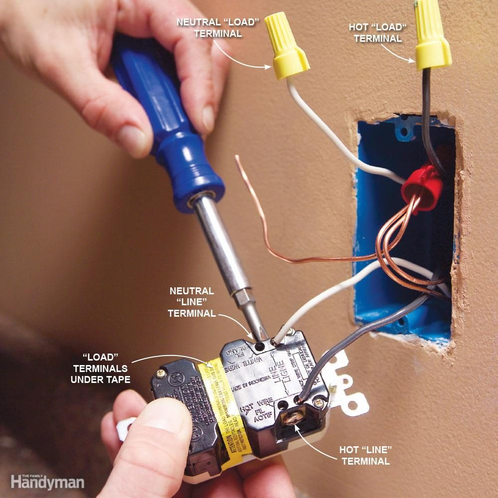 Top 10 Electrical Mistakes The Family Handyman Wiring A Outside Plug Mistake Gfci Backward