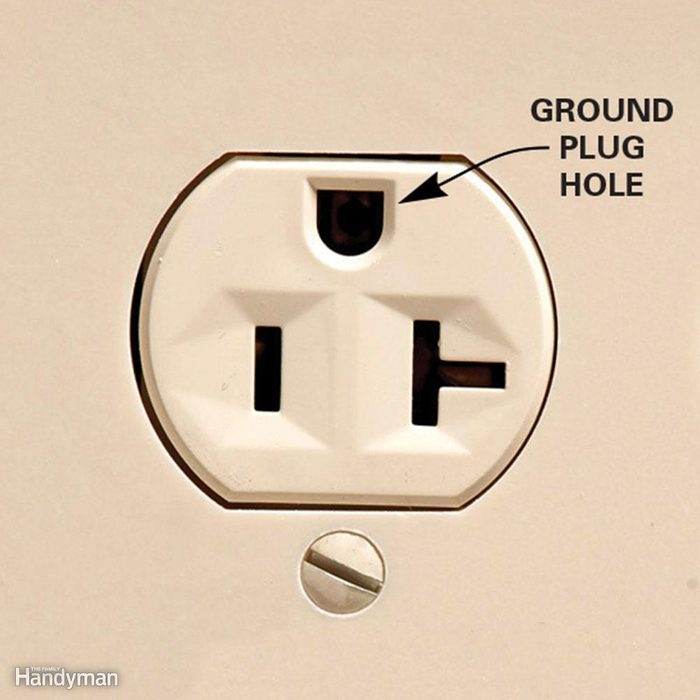 Ground hole down or up