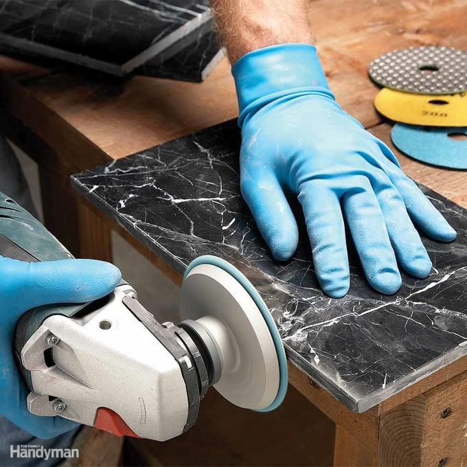 Make Your Own Trim by Polishing Edge Pieces