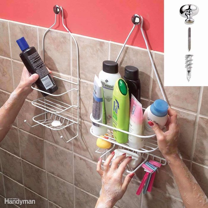 His and Hers Shower Shelves