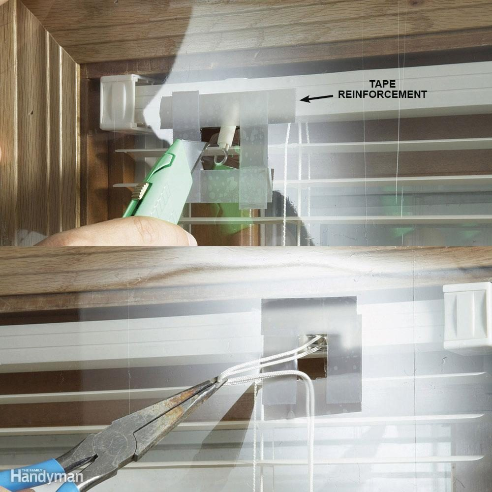 Operate Mini Blinds Covered with Shrink Film