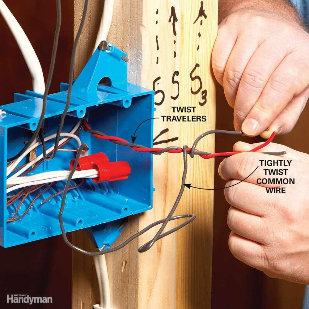 Wiring A Switch And Outlet The Safe Easy Way Family Handyman 3 Dimmer Diagram When Power Light Wires In Same Box Identify Roughed