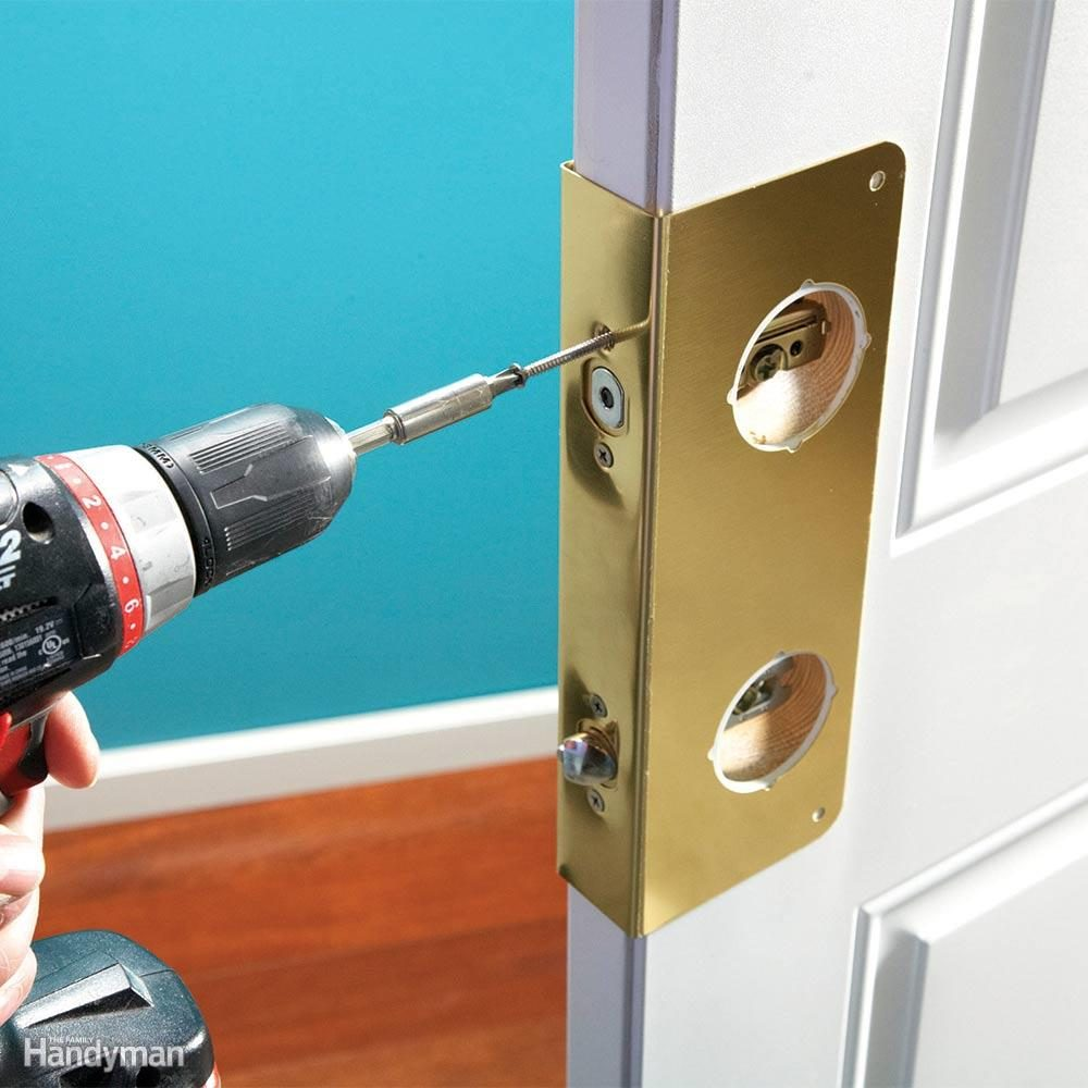 Install Door Reinforcement Hardware & Inexpensive Ways to Theft-Proof Your Home u2014 The Family Handyman