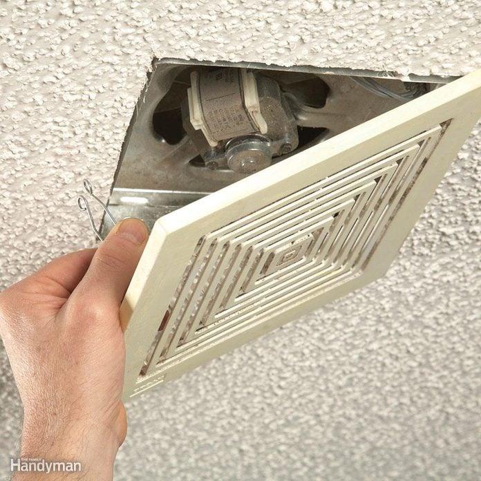 cleaning bath vent fan