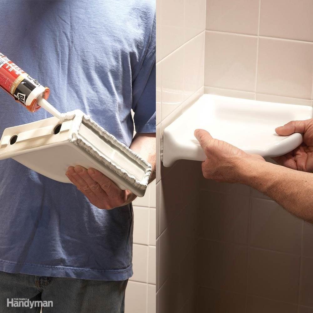 Add a Shower Shelf