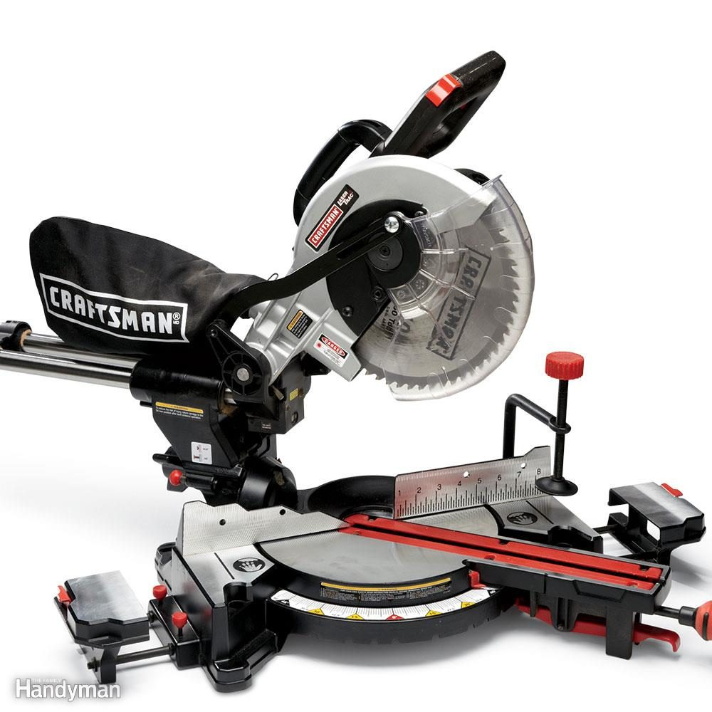 miter saw labeled. sliding miter saw review: craftsman labeled