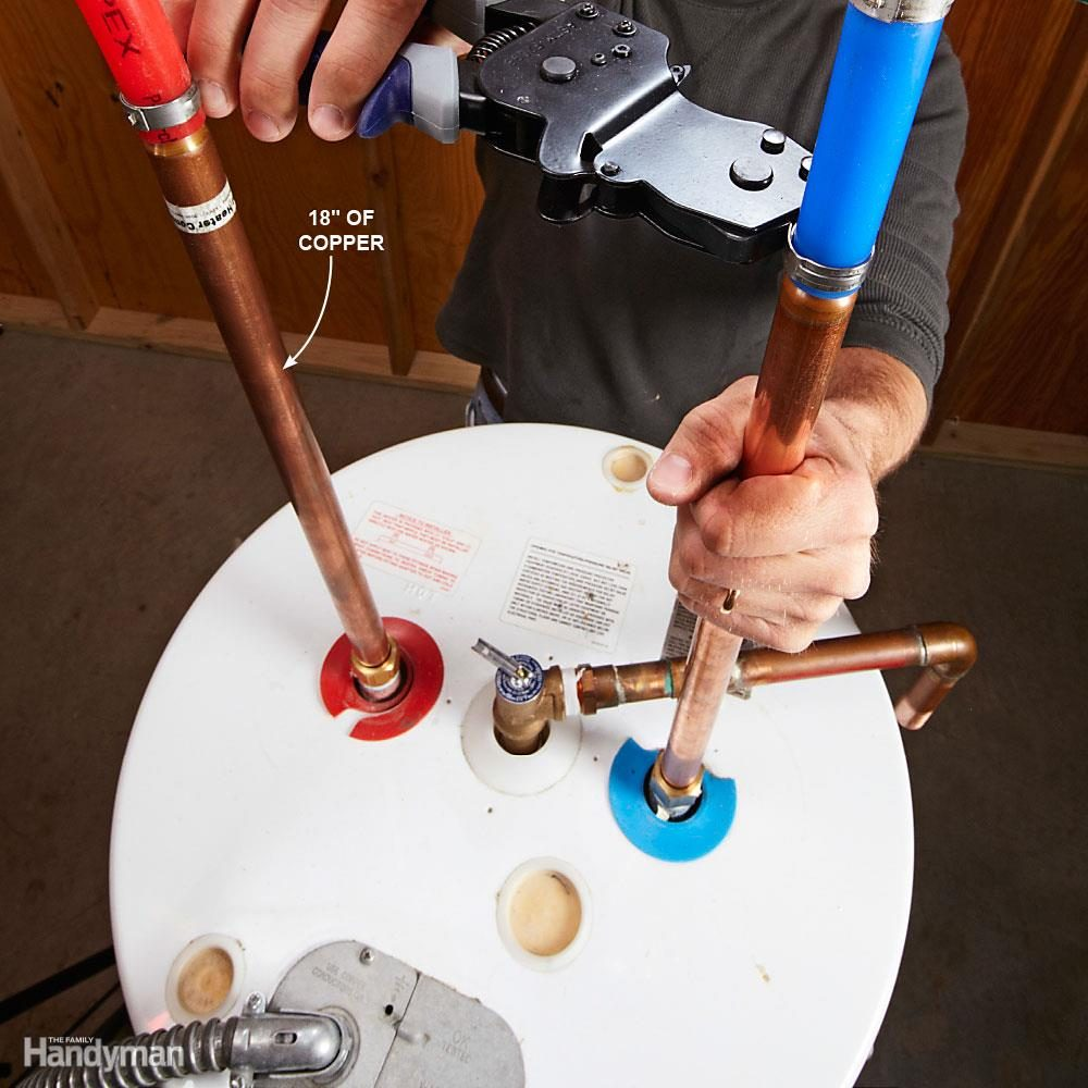 Can I Connect PEX to my Water Heater?