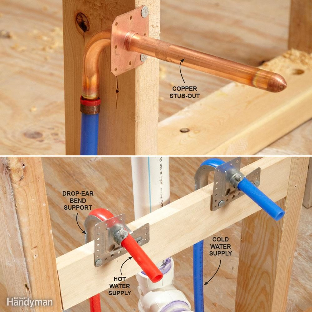 Pex Supply Pipe Everything You Need To Know The Family Handyman Piping Layout Tools How Do I Connect My Plumbing Fixtures