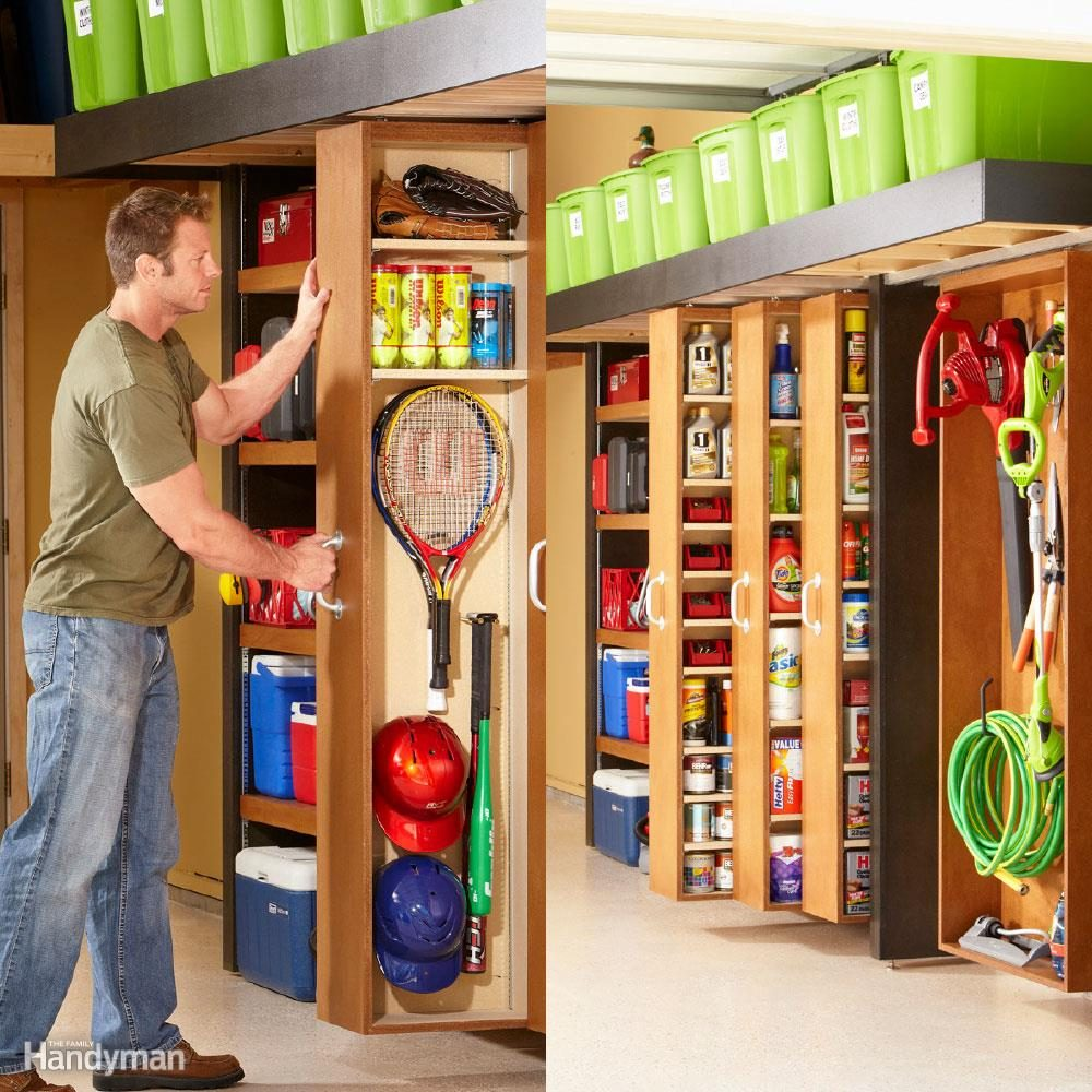 E Saving Sliding Garage Storage Shelves